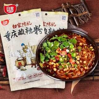 白家陳記 酸辣絲 即食包(不包圖中的菜)現貨5包,$15/包