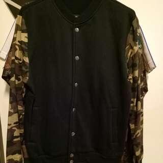 Bomber Jacket (Camo Sleeve)