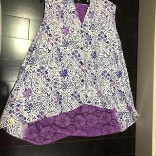 Top Batik purple