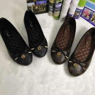 LV Inspired Monogram Ballet Flat Shoes