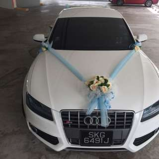 2018 Wedding white car for booking