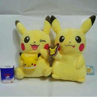 Pokemon 比卡超 公仔,全新,有牌, 日本版,約25cm,不包郵,不交換,HK$120/隻