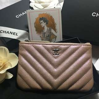 Chanel rose gold mini o case