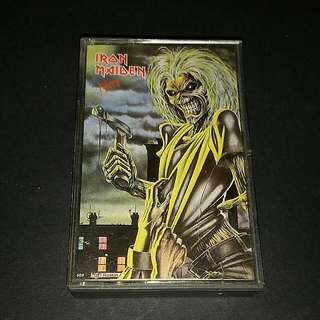 Iron Maiden  (killers) cassette rock - rare collection