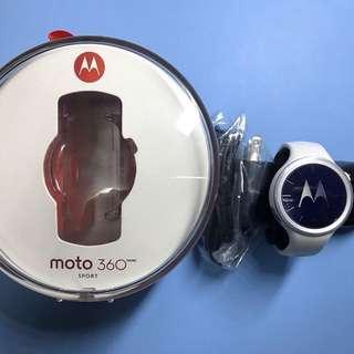 99% 新 Moto 360 sport 白色 Android wear 2.0