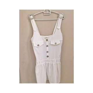 White romper dress!for only 120 php!