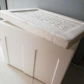 Styrofoam box cooler box