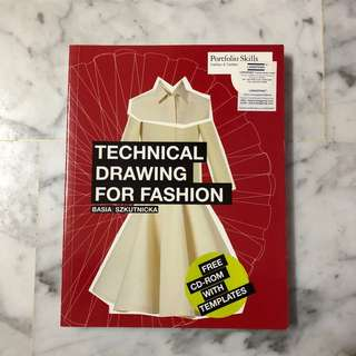 Technical drawing for fashion by Basia Szkutnicka