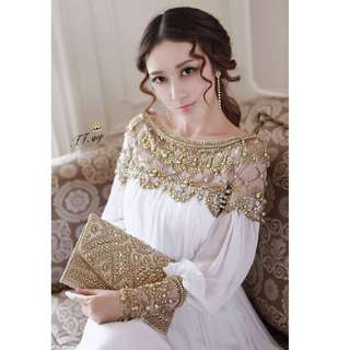 Gown Collection - Classic Europe Royal Style Design White Gown