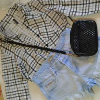 NAFNAF Checkered Polo Shirt