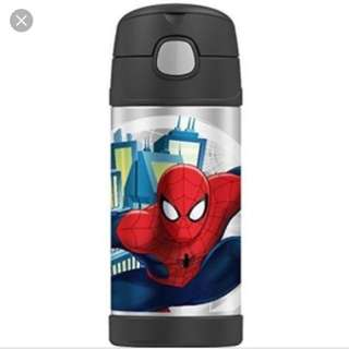 Thermos insulated stainless steel water bottle funtainer Spider-Man with handle
