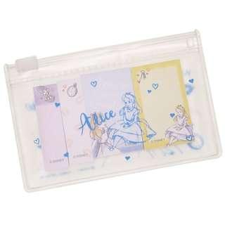 [現貨] 日本直送 Alice in the Wonderland Sticky Memo 便條紙 / 便利貼連 Zip Case
