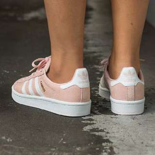 Women's ADIDAS CAMPUS SHOES in BABY PINK