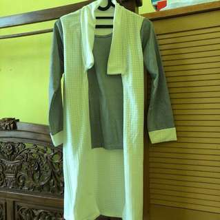 Black and white polkadot blouse top