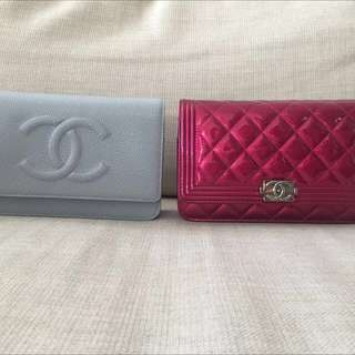 Authentic Chanel WOC Wallet On Chain Bag Timeless $2000 (blue) Boy $2200 (fuchsia)