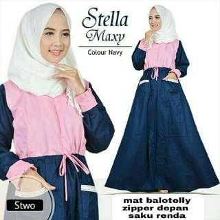 ST - 0118 - Dress Busana Muslim Stella Maxi