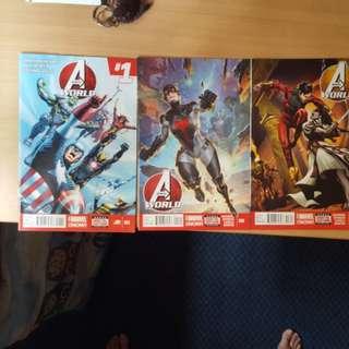 Avengers world issue 1-3
