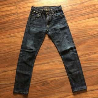 nudie jeans selvage thin finn size 29