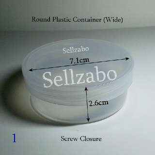 #A White Plastic Empty Round Clear Colour Tubs Cases Casings Holders Containers Sellzabo Sizes For Travelling Storage