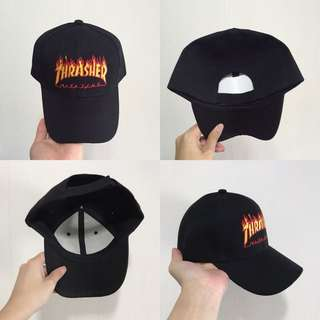 "INSTOCKS Black ""Thrasher"" Baseball Cap"