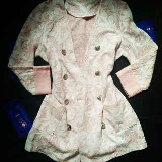 Pink Lace Blazer/Trench Coat