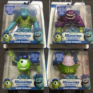 Monsters University action figures