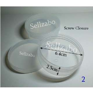 Round Plastic White Empty Clear Colour Tubs Cases Casings Holders Containers Sellzabo Sizes For Travelling Storage