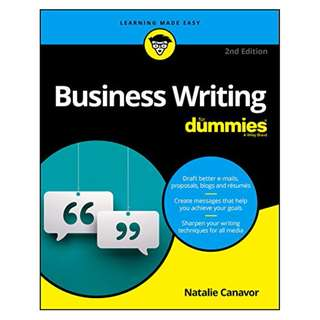 Business Writing For Dummies (For Dummies (Lifestyle)) BY Natalie Canavor