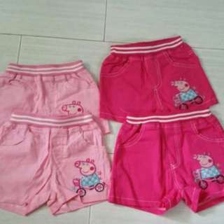 Instock Peppa Pig short brand new size avail for 2-3yrs old