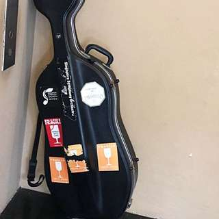 Cello Hard Case - Black, Flight & Travel Friendly