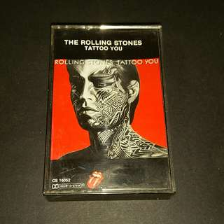 The rolling Stones (tattoo you) cassette rock