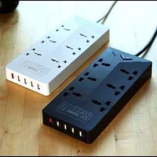 100%全新現貨!REMAX Aliens 智能拖板 6個三腳插 + 5 USB插頭 RU-S4 5USB iPhone X Samsung lg 小米 華為