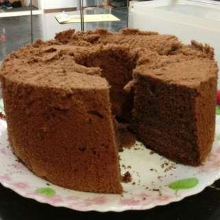 超軟巧克力戚風蛋糕8吋