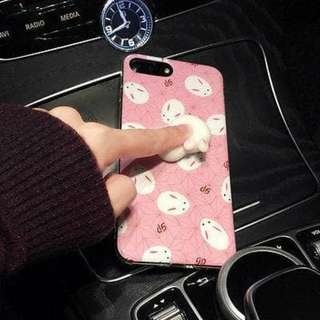 3D Silicon Animal Case cover Soft TPU Squishy iPhone 8 8 plus Bunny