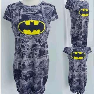 Batman Print T-shirt Dress