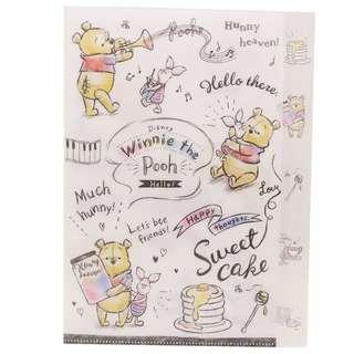 日本直送 Winnie the Pooh 小熊維尼音樂系列 5 層 A4 File
