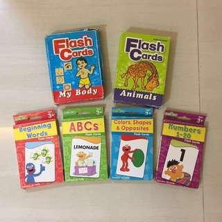 PL Sesame Street Flash Cards & Animals & Body Flash Cards