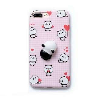 3D Silicon Animal Case cover Soft TPU Squishy iPhone 8 panda