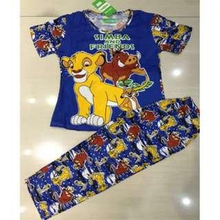 Pajama set for Boys Lion King
