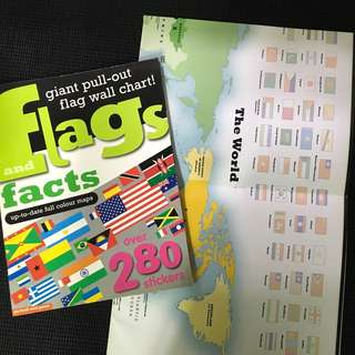 Flags stickers book