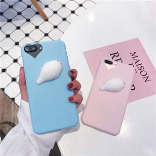 3D Silicon Animal Cases Soft TPU Squishy iPhone 8 dan 8 plus