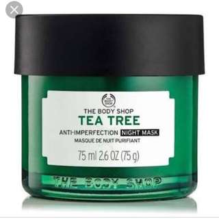 The body shop Tea Tree night mask