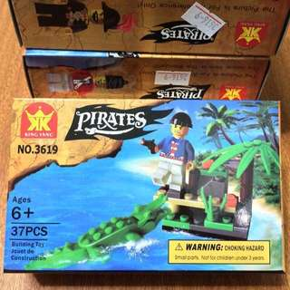 NO.3619 pirates 海盜 人偶 積木 兒童玩具 #銅板好物
