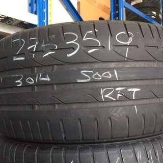 275/35/19 Bridgestone S001 Runflat used tyres