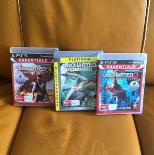Uncharted series PS3 Games