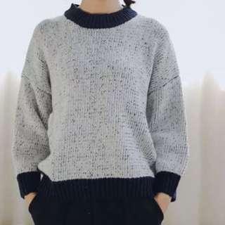 藍白色針織冷衫