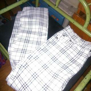 White checkered pants