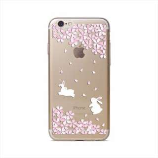 Thin Clear Soft TPU Rubber Case Cover iphone 8  bunny