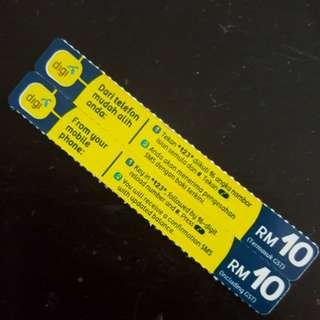 DIGI PREPAID CARD RM10*2