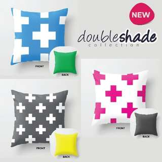 KrisKros Double Shade Collection Throw Pillow Cover